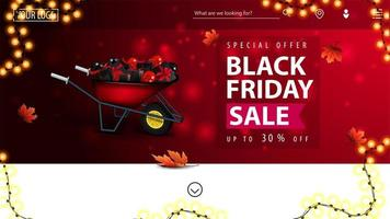 specialerbjudande, svart fredag försäljning banner vektor