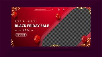 svart fredag försäljning, upp till 50 rabatt banner