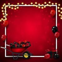 tom röd mall för svart fredag vektor