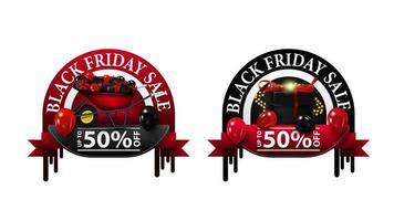 Black Friday Sale, bis zu 50 Gutscheine vektor