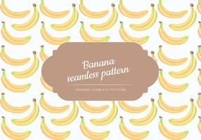 Vektor handdragen bananer sömlös mönster