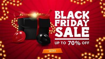schwarzer Freitag Verkauf, bis zu 70 aus Banner vektor