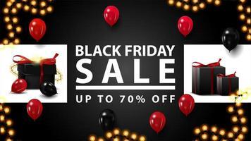 schwarzer Freitag Verkauf, bis zu 70 aus Banner