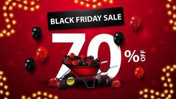 svart fredag försäljning, upp till 70 rabatt banner