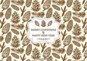 Hand gezeichnet Weihnachten Tannenzapfen Nahtlose Muster