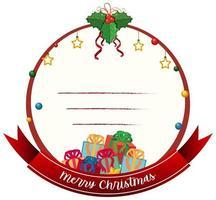 leere frohe Weihnachtskartenschablone vektor