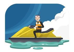 Mann auf einem Jet Ski Vektor-Illustration