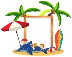 Tom banner med sommartema