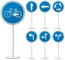 blaues Verkehrszeichen auf weißem Hintergrund