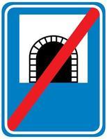 Tunnelzeichen lokalisiert auf weißem Hintergrund vektor
