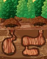 tomt underjordiskt djurhål vektor