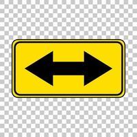 gul trafik varningsskylt på transparent bakgrund