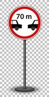 rött trafikskylt på transparent bakgrund