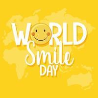 värld leende dag banner