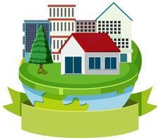 Haus auf dem Globus vektor