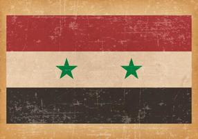 Grunge flagga av Syrien vektor