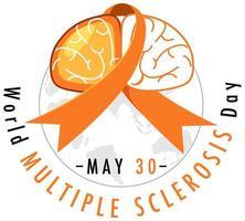 Welt Multiple Sklerose Tag Logo oder Banner