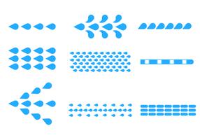 Blauer flacher Wasserstrahl-Vektor