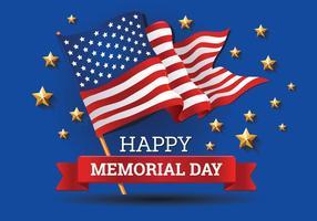 Memorial Day Hintergrund Vorlage Vektor