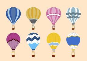 Flache Heißluftballon-Vektoren