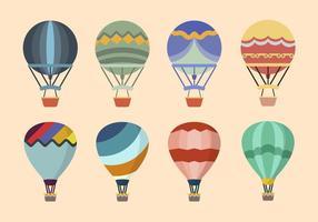 Plana varmluftsballongvektorer