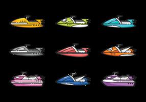 Wasser Jet Ski Vektoren