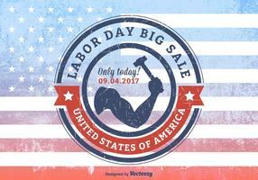 USA Arbetsdag Big Sale Grunge Rubber Stamp vektor