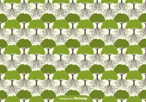 Baum mit Wurzeln Nahtloses Muster vektor