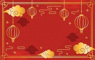 einfacher chinesischer Neujahrsfesthintergrund vektor