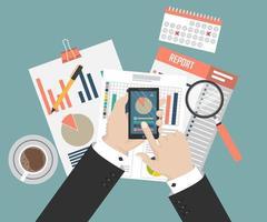granskning av skatteprocessen vektor