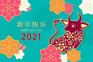 kinesiskt nyår 2021 år av oxen