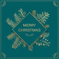 grön jul bakgrund vektor