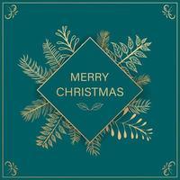 grüner Weihnachtshintergrund vektor