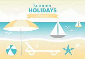 Freie Sommer-Ferienvektor-Gruß-Karte vektor