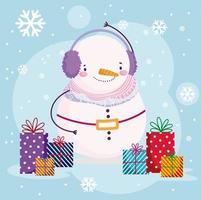 god jul banner med söta karaktärer vektor