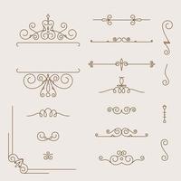 samling av vintage mönster vektor
