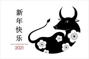 chinesisches Neujahr 2021 Jahr des Ochsen