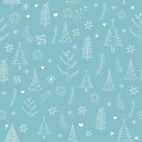 jul mönster med träd vektor
