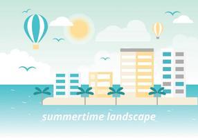 Freie Sommer Urlaub Vektor Landschaft