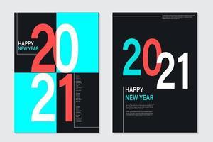 2021 Neujahrshintergrund für Feiertagsgrußkarte