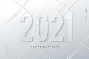 weiß frohes neues Jahr 2021 vektor