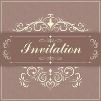 Vintage Einladungspapier Grenze vektor
