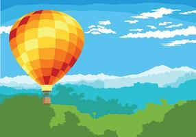 Hot Air Balloon Vector Bakgrund