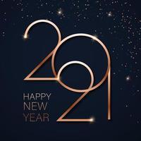 guld gott nytt år 2021 vektor