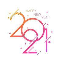 Gefälle frohes neues Jahr 2021