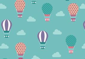 Gullig varmluftsballongmönstervektor