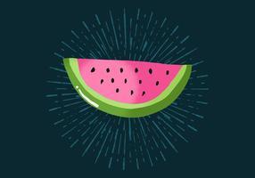 Radiant vattenmelon vektor