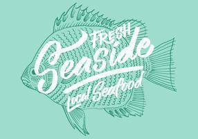 Färsk lokal fiskfiskdesign