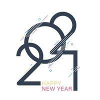 frohes neues Jahr 2021. vektor