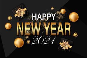 2021 Neujahrshintergrund vektor